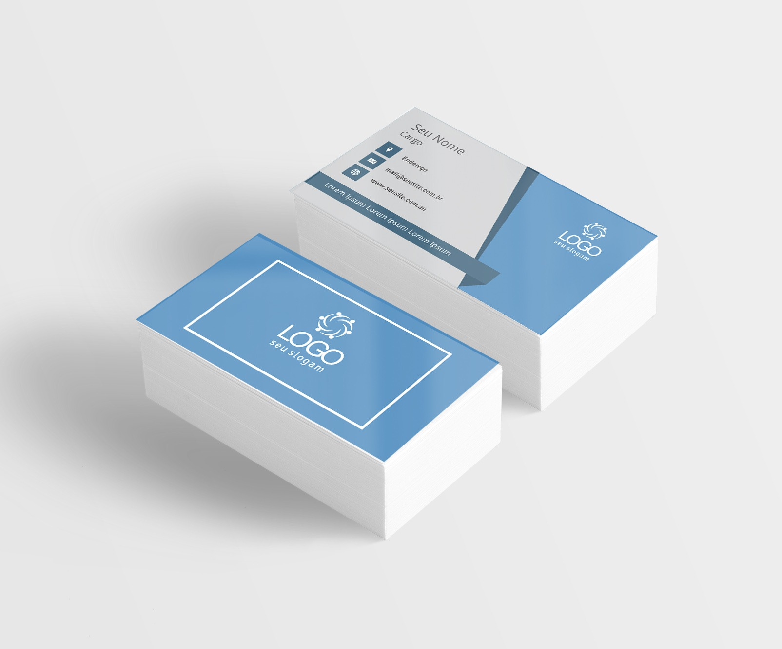 cartão de visita couchê 300g impressos curitiba